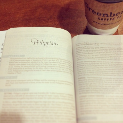 dearsweetheartevents can't wait to start my Thursday mornings reading the Word with some amazing women, and a cup of chai tea latte #Philippians #sweetspots