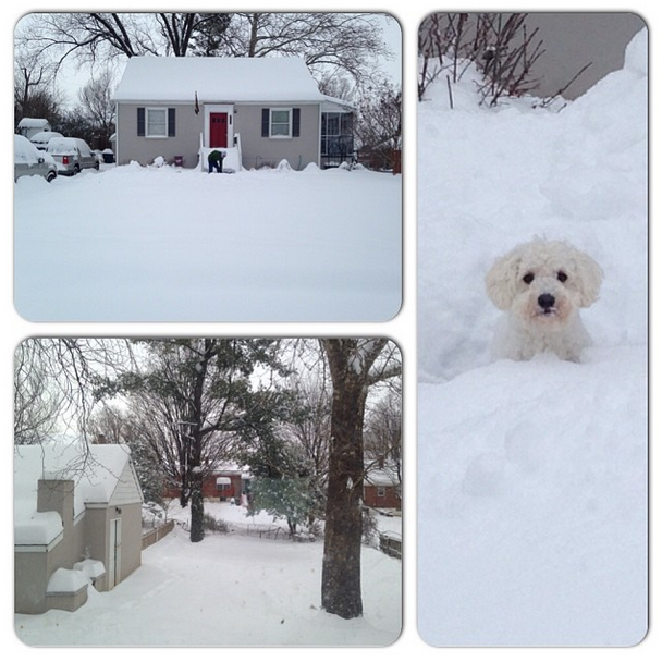 @laurenccundiff  First big snow in our new home!! #snOMG #sweetspots
