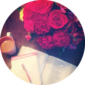 "@juleahrosefortner ""I will greatly rejoice in The Lord; My soul shall exult my God, for he has clothed me with the garments of Salvation;"" morning coffee. birthday flowers. Sitting at the feet of Jesus. #sweetspots"