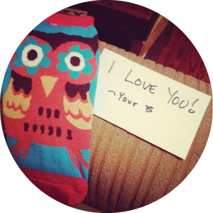 @allyduncan13 I have the best husband ever - sneaking some new socks into my closet, and owls being my favorite. #sweetspots