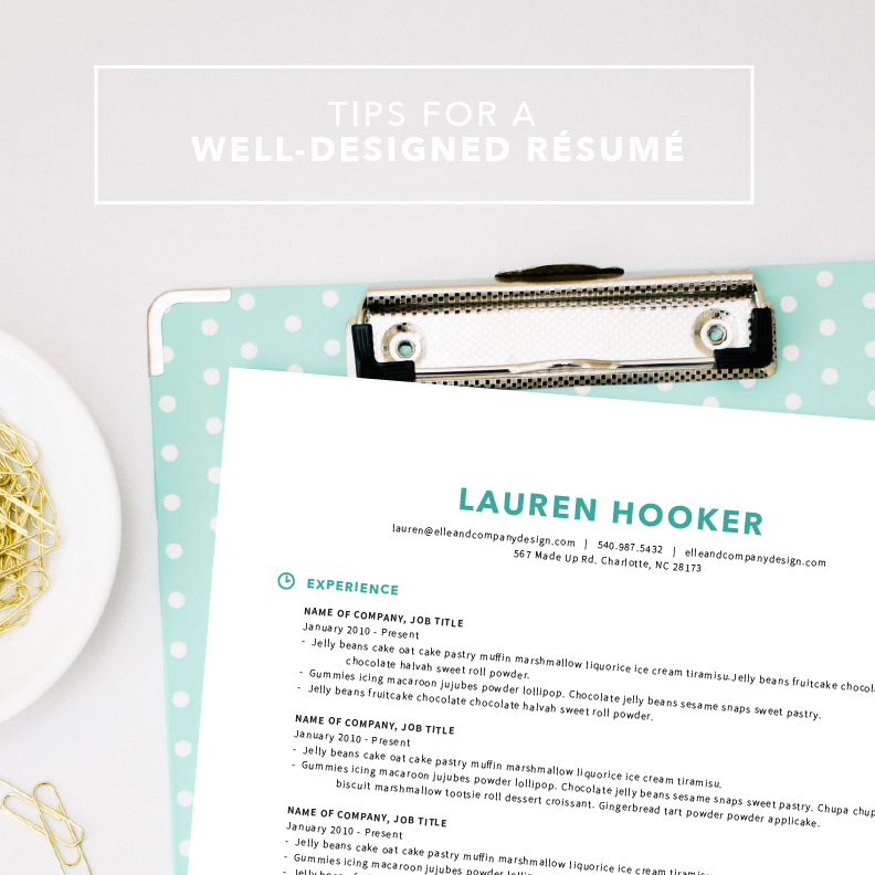 Disregard the silly filler text. This post is about resume design. Resume content is a whole different blog post!