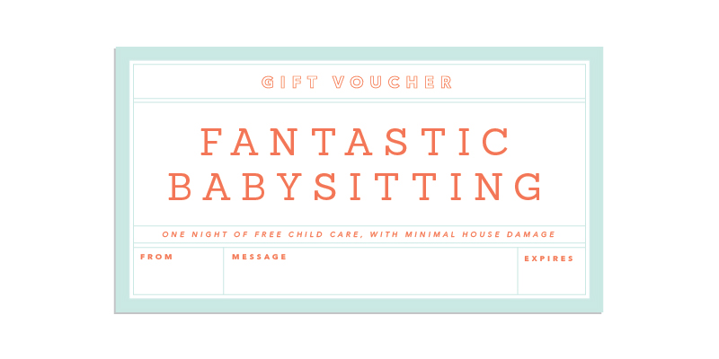 Babysitting Vouchers Template  Microsoft Office Coupon Template