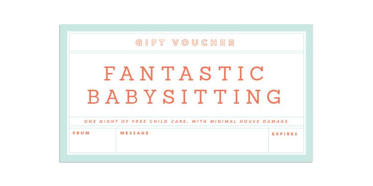 Gift giving made easy babysitting voucherg yadclub Choice Image