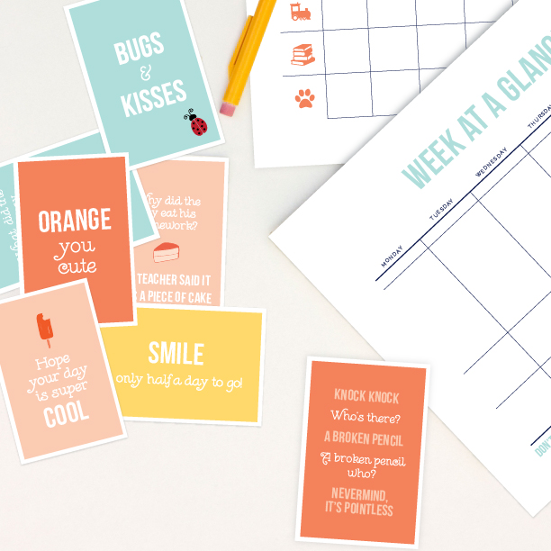 Elle & Company back to school printables