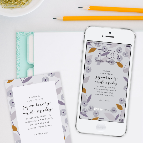 A new (free!) verse background each week from Elle & Company