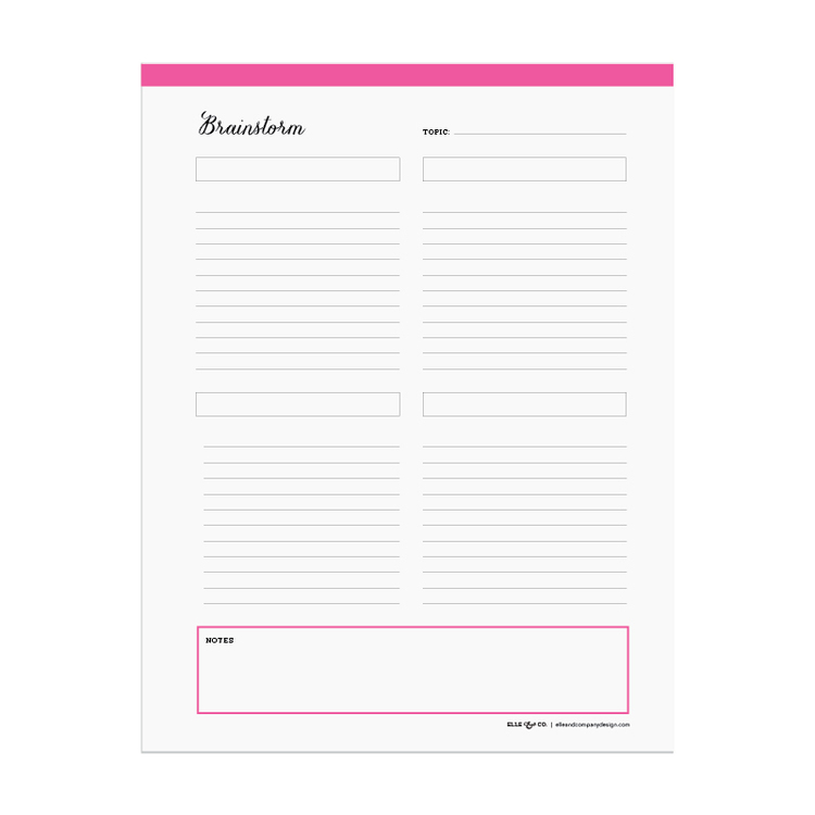 How I Stay Organized and new Library additions – Brainstorm Worksheet