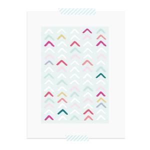 Blue Arrows printable art print  |  Elle & Co.