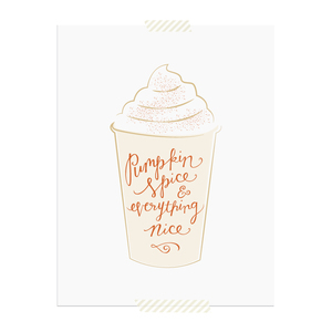 Pumpkin Spice & Everything Nice printable art print  |  Elle & Co.