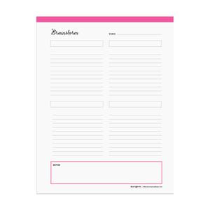 Printable brainstorm chart  |  Elle & Co.