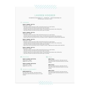 Printable resume templates  |  Elle & Co.