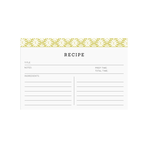 Printable recipe cards  |  Elle & Co.
