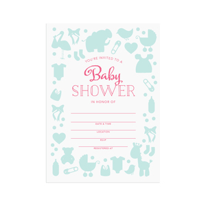 Printable baby shower invitations  |  Elle & Co.