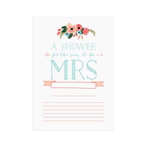 Printable bridal shower invitations  |  Elle & Co.
