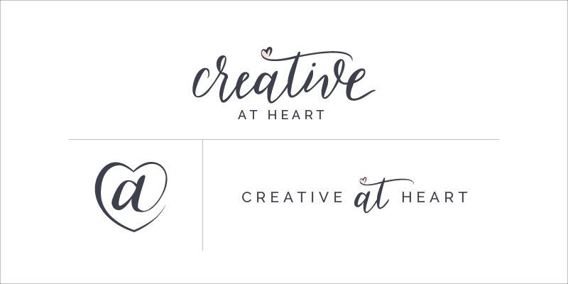 Creative At Heart logos // Elle & Company