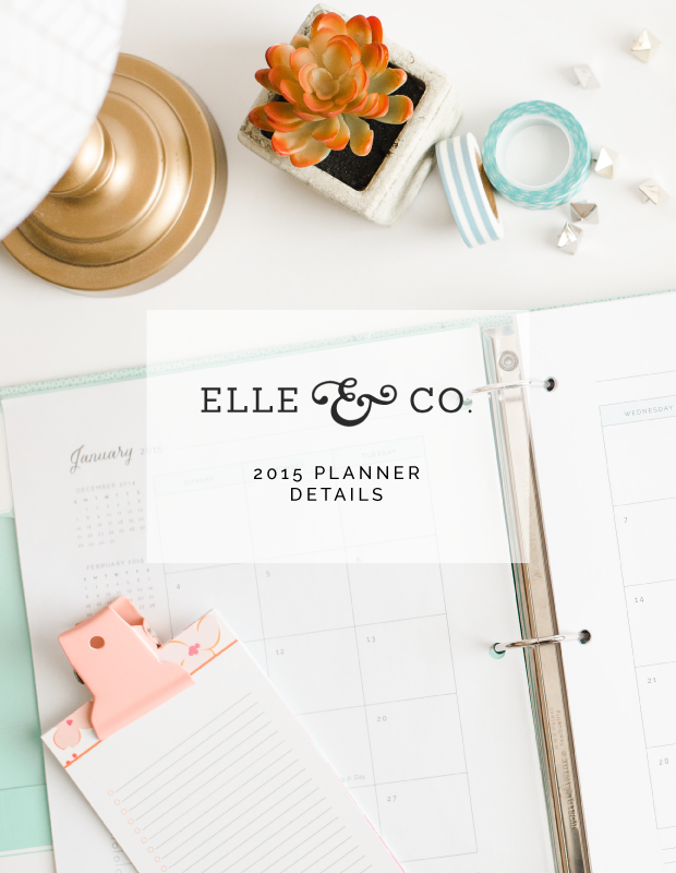 2015 Elle & Company planner details - New name and immediate access!