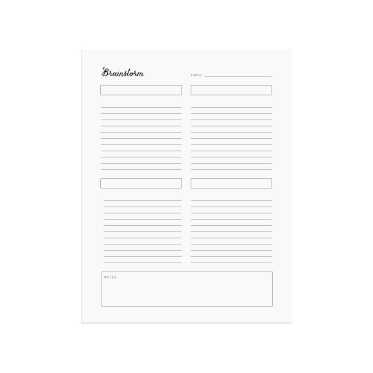 Ellebook Brainstorm printable - Elle & Co.