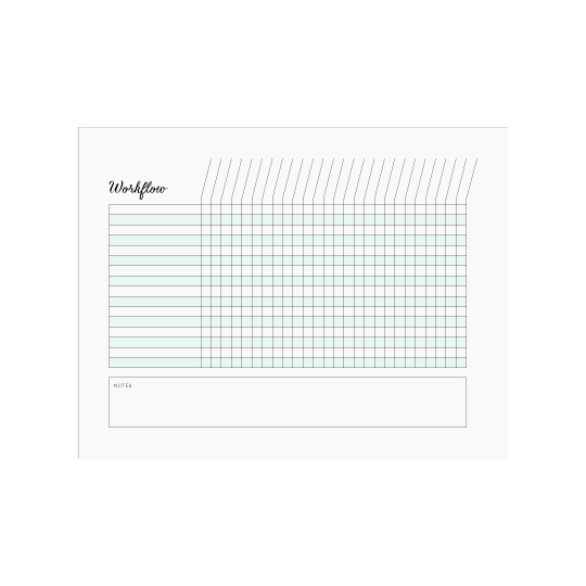 Ellebook Workflow Chart printable - Elle & Co.