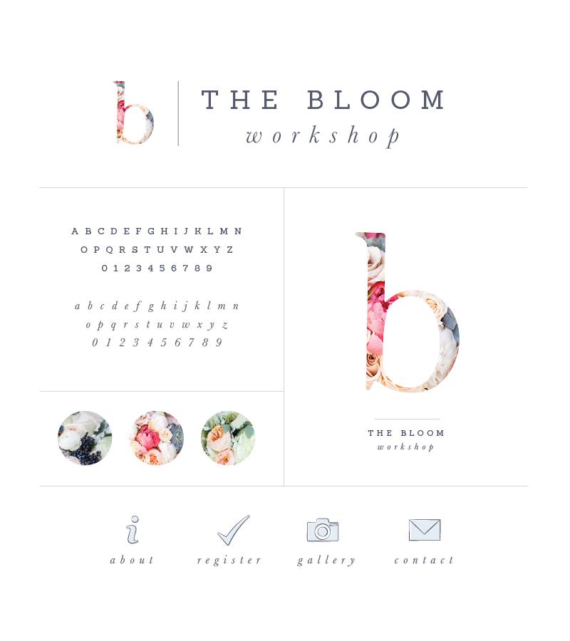 New Brand + Website Design for The Bloom Workshop | Elle & Company
