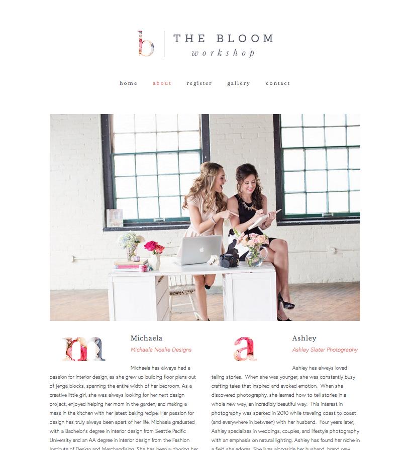 New website for The Bloom Workshop - Elle & Co.