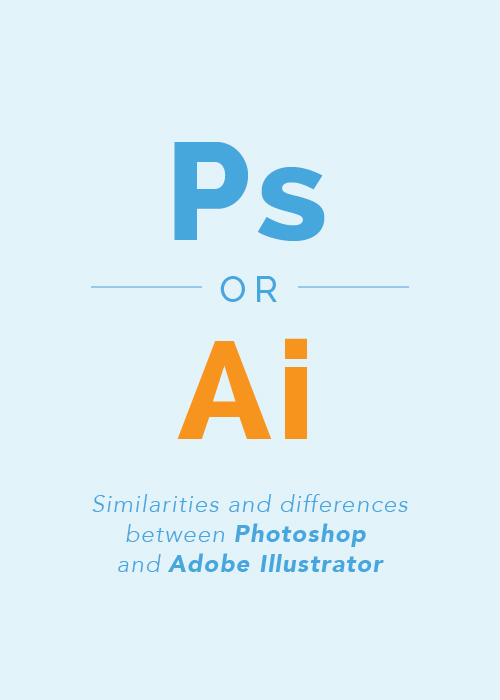 Similarities and differences between Photoshop & Adobe Illustrator - Elle & Company