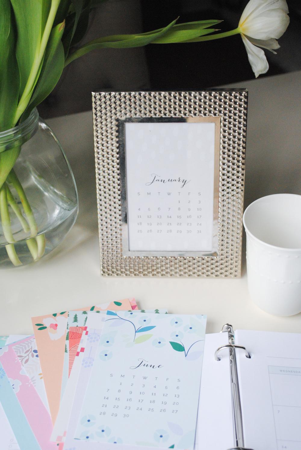 Printable 2015 Desktop Calendars - Elle & Company