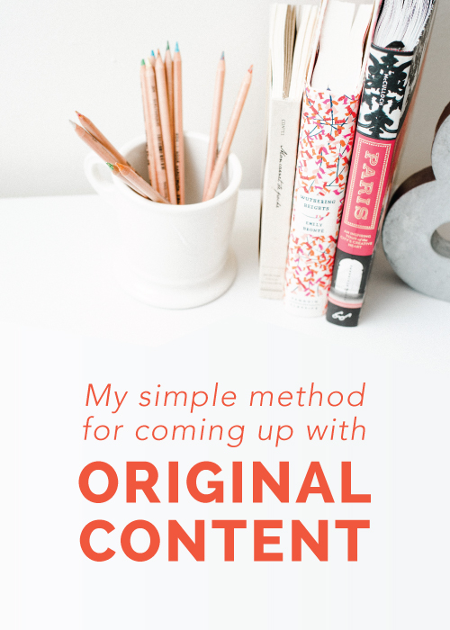 My Simple Method for Coming Up With Original Content | Elle & Company