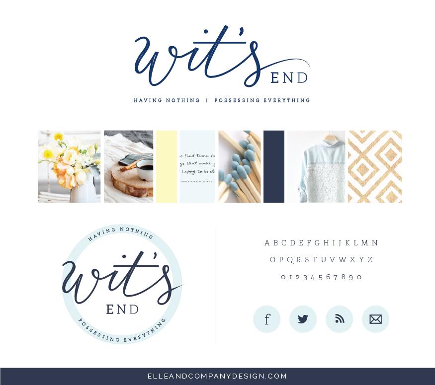 Wit's End brand board - Elle & Company
