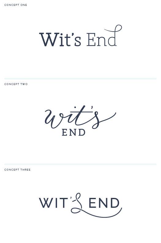 Wit's End logo concepts - Elle & Company