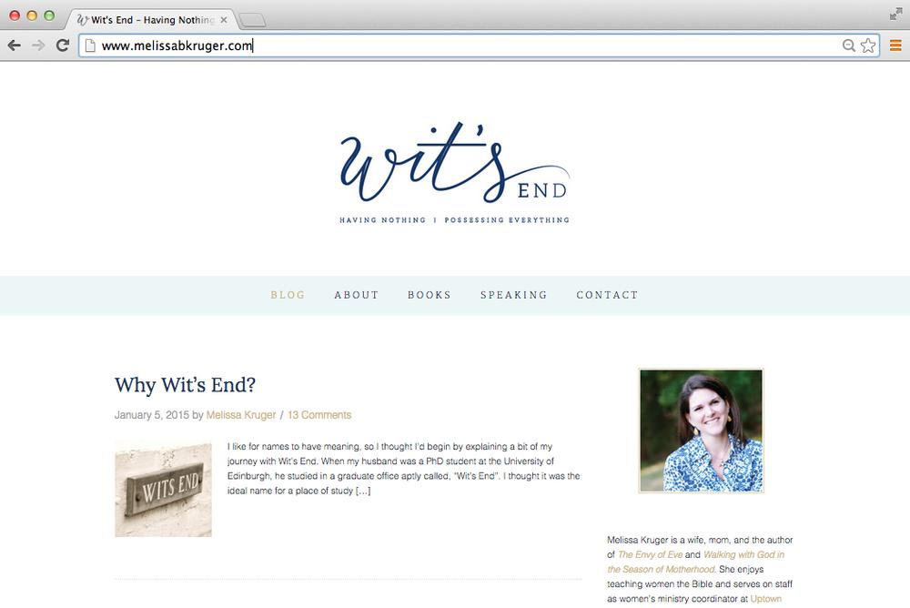 Wit's End blog design - Elle & Company