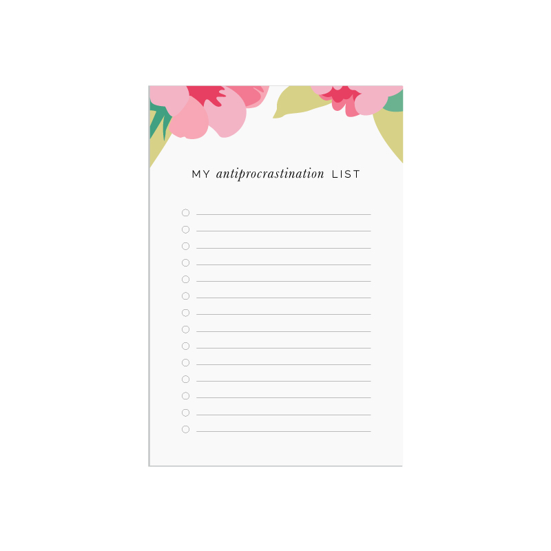 My Antiprocrastination List printable - Elle & Company Library