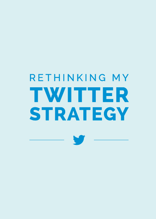 Rethinking My Twitter Strategy | Elle & Company