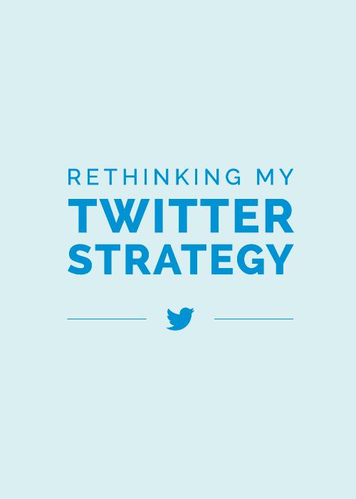 Rethinking My Twitter Strategy - Elle & Company