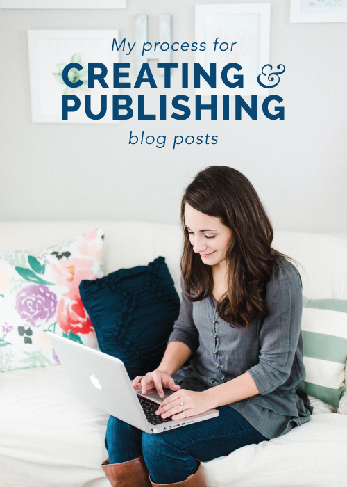 My Process for Creating & Publishing Blog Posts | Elle & Company