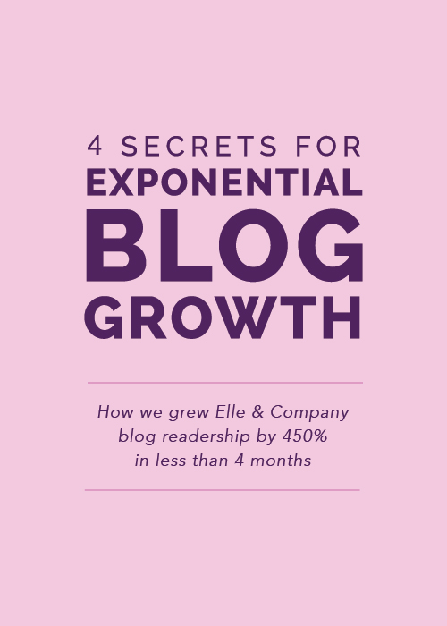 4 Secrets for Exponential Blog Growth | Elle & Company