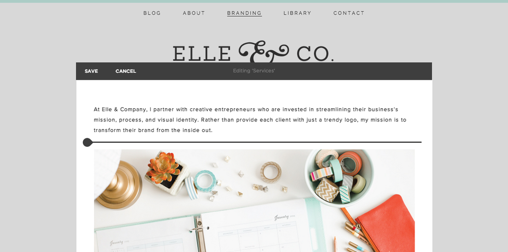 Setting Up Pages & Navigation in Squarespace - Elle & Company