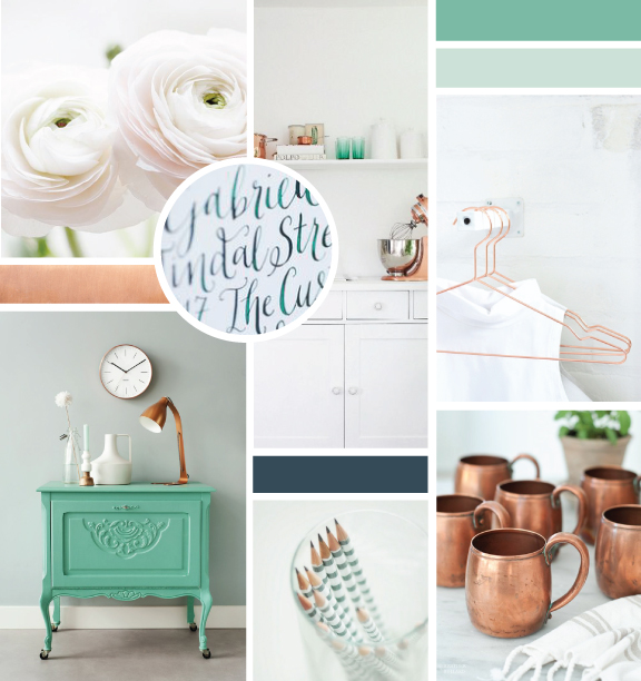 Client inspiration board by Elle & Company