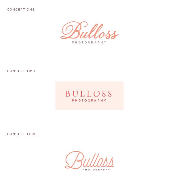 Logo concepts for Bulloss Photography - Elle & Company