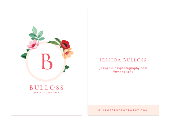 Business cards for Bulloss Photography - Elle & Company