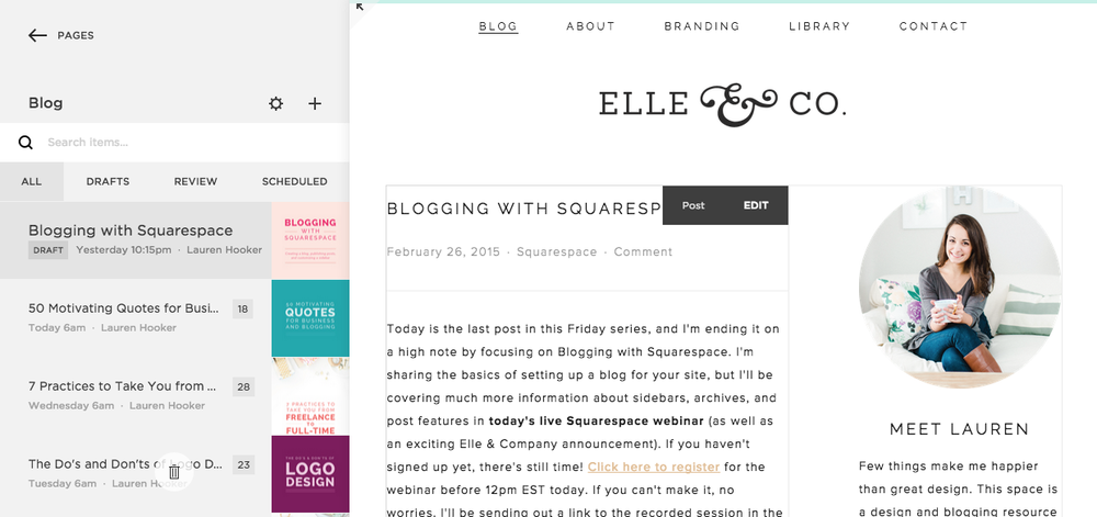 blogging with squarespace. Black Bedroom Furniture Sets. Home Design Ideas
