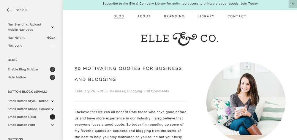 Blogging with Squarespace | Elle & Company