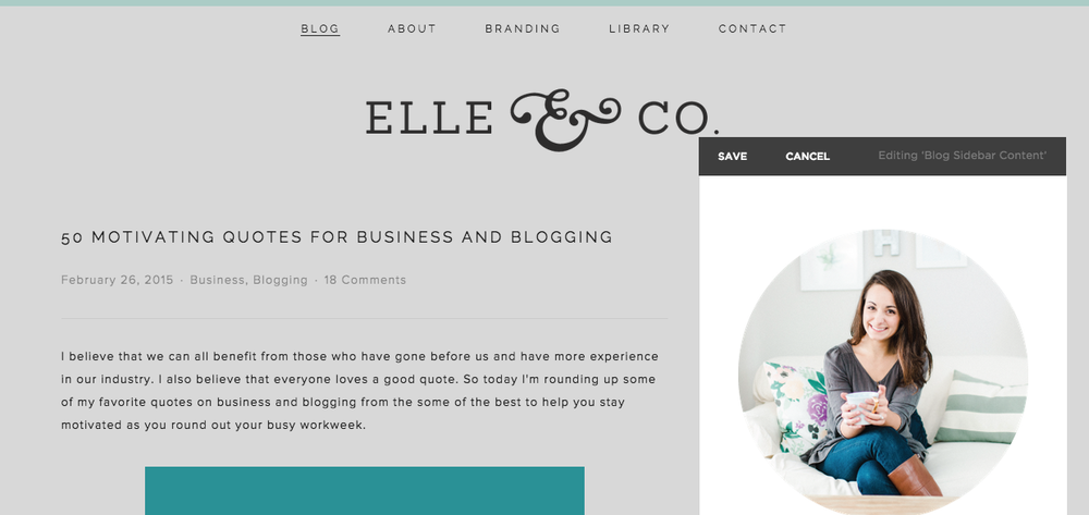 Blogging with Squarespace - Elle & Company