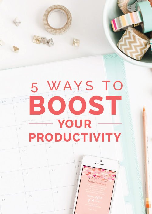5 Ways to Boost Your Productivity | Elle & Company