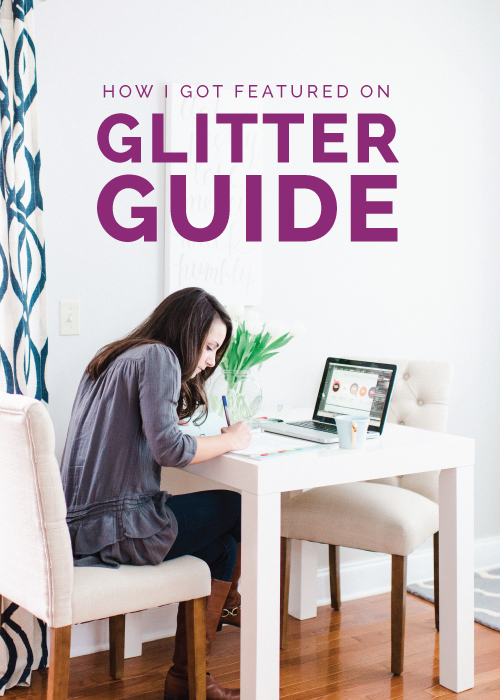 How I Got Featured on The Glitter Guide - Elle & Company