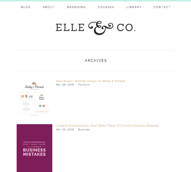 How to Set Up Blog Archives in Squarespace | Elle & Company