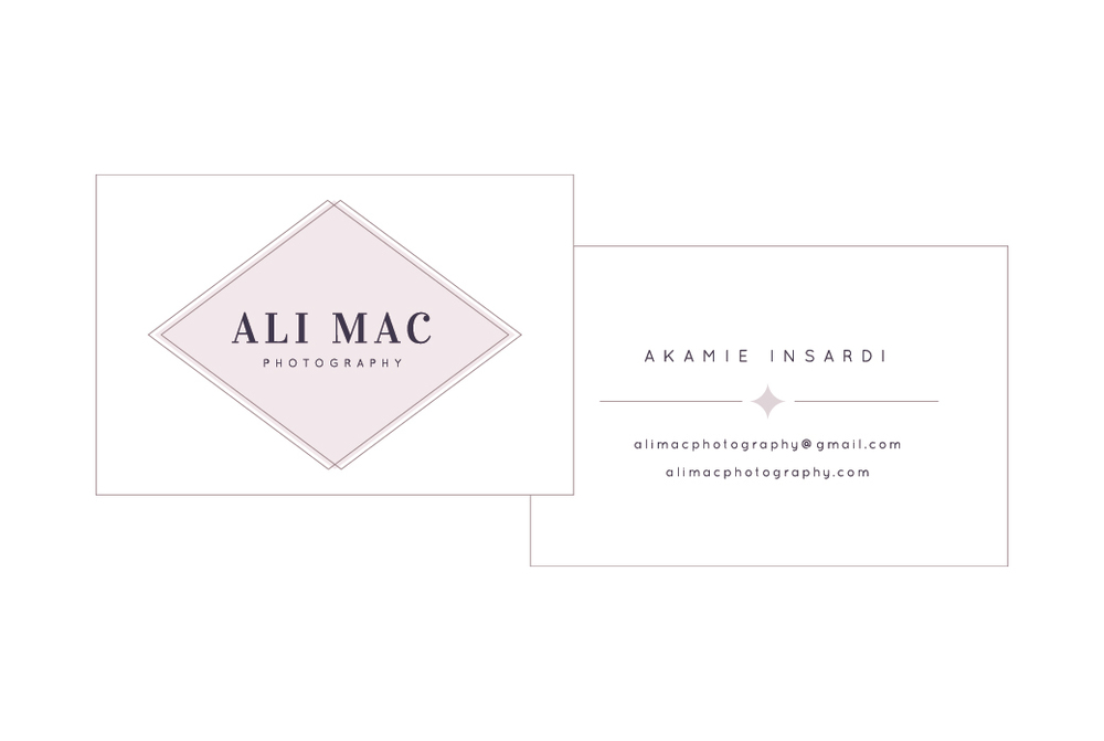 Business card design for Ali Mac Photography - Elle & Company