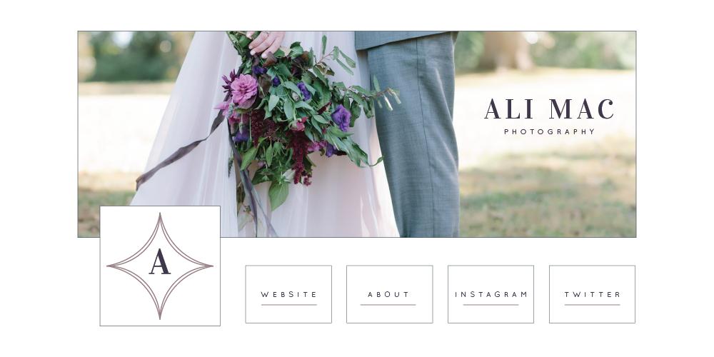 Social media designs for Ali Mac Photography - Elle & Company