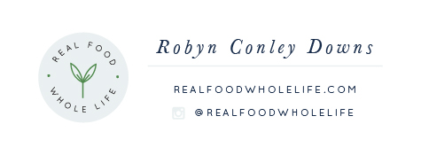 Email signature for Real Food Whole Life - Elle & Company