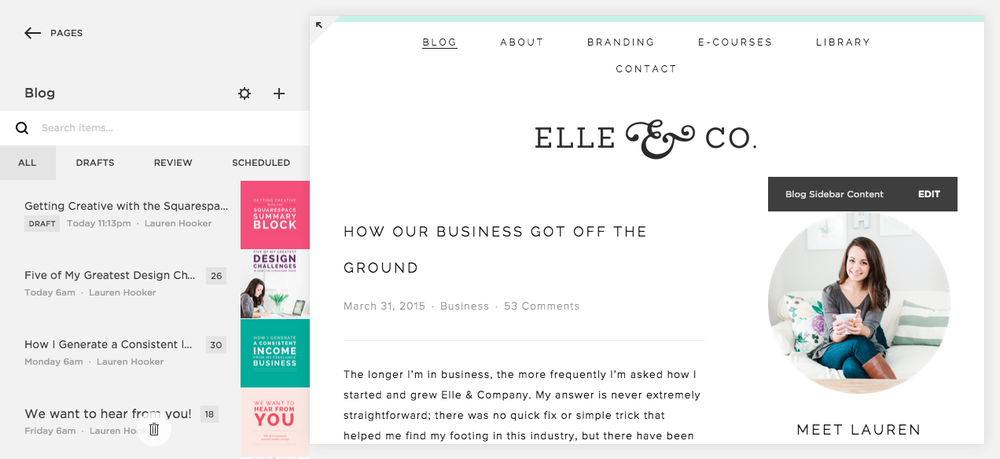 The Many Uses of the Squarespace Summary Block | Elle & Company