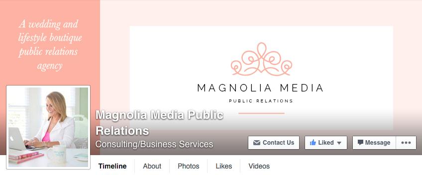 Facebook cover image and profile picture designs for Magnolia Media - Elle & Company