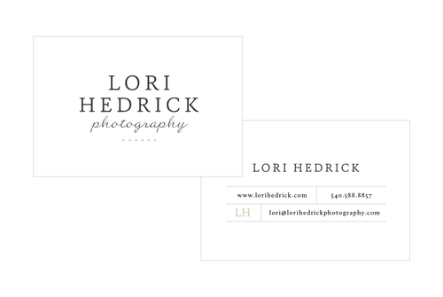 Business cards for Lori Hedrick Photography - Elle & Company